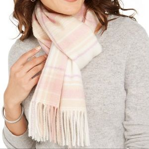 Charter Club Plaid Woven Cashmere Scarf,